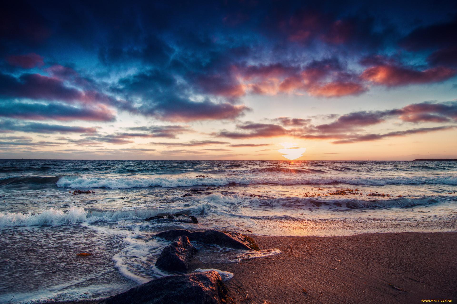 красивые фото море закат для фейсбук них